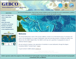 The new GEBCO web site
