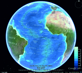 GEBCO World Map image viewed in Google Earth