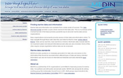 The new look MEDIN (oceannet.org) web site