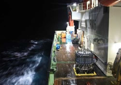RRS James Cook - pre-dawn sampling