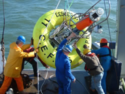 Deploying a Centre for Environment, Fisheries & Aquaculture Science SmartBuoy during a Coastal Observatory cruise