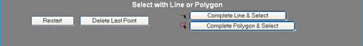 Select with line or polygon dialogue box