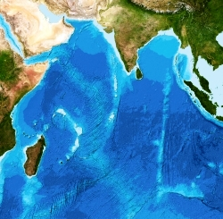 Bathymetry for the Indian Ocean from the GEBCO_2014 Grid