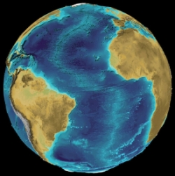Bathymetry data from the GEBCO One Minute Grid