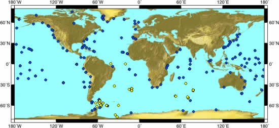 International sea level sites