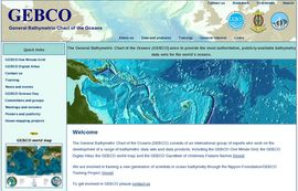 General Bathymetric Chart of the Oceans (GEBCO) official web site