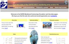 RAPID MOC – Real time data from the RAPID MOC monitoring array