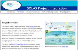 Surface Ocean - Lower Atmosphere Study (SOLAS) Project Integration