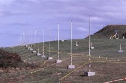 Antenna array - part of radar system to observe surface currents in the Liverpool Bay, UK