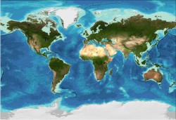 Bathymetry data from the GEBCO_08 Grid