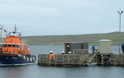 Location of tide gauge at Lerwick