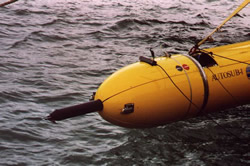 Turbulence probe fitted on Autosub