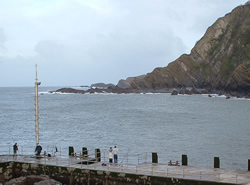 Location of tide gauge at Ilfracombe