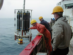 Sampling at sea