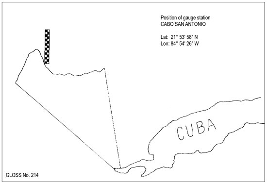 Location map for Cabo San Antonio, Cuba