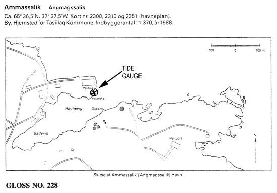 Location map for Ammassalik, Greenland, Denmark