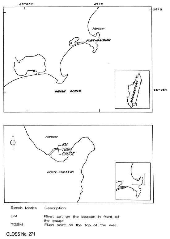 Location map for Fort Dauphin (Taolanaro), Madagascar