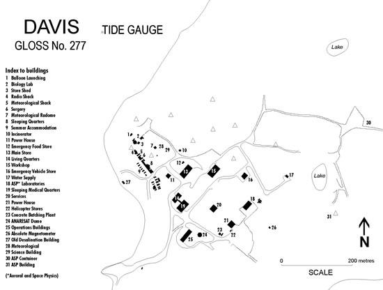 Location map for Davis, Australia