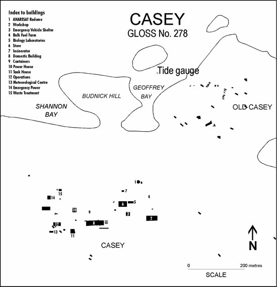 Location map for Casey, Australia