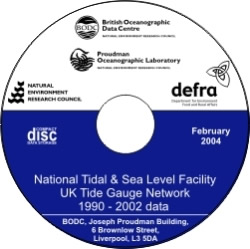 NTSLF UK Tide Gauge Network 1990 - 2002 data CDROM