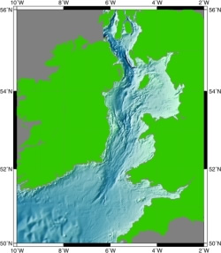 Celtic seas bathymetry